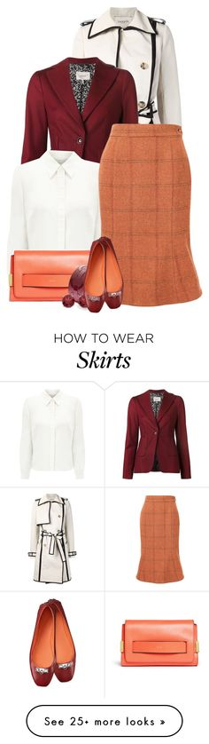 """""""Tweed Skirt"""" by linda-olson on Polyvore featuring Lanvin, Dorothee Schumacher, Eastex, Chloé, Vivienne Westwood Red Label, BillyTheTree, women's clothing, women, female and woman"""