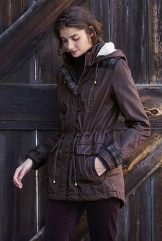 Check Trim Coated Parka for Tall Women | Long Tall Sally USA