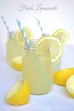 Leckere Limonade mit Zitrone - DIY Rezepte