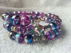 Handmade Purple & Silver Nursing / Breast by MsRetroDesigns, £9.99