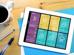 Minimeteo, une application de meteo minimaliste pour iPad