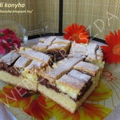 Bögrés gyümölcsös kocka Hungarian Cake, Tiramisu, Waffles, Cupcake, Muffin, Breakfast, Ethnic Recipes, Food, Cakes
