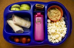 kiddo lunch! with popcorn
