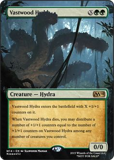 Vastwood Hydra Mtg Hydra, Game Card Design, Mtg Decks, Mtg Art, Nice Comments, Dnd Monsters, Magic The Gathering Cards, Magic Cards, Art Cards