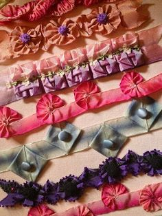 Pucker RIBBON WITH THE TECHNICAL SIDE ORNAMENTS | Ribbons world