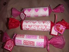 toilet paper rolls to make candy gifts