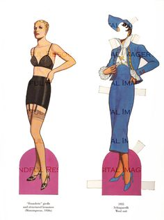 1930s Fashion Paper Doll  Printable Digital Instant Download by mindfulresource