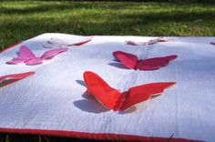 Butterfly Kisses: Interactive Play Quilt / Modern Taggie