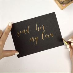 Pointed pen calligraphy - Modern calligraphy - Calligraphy video - Gold  ink