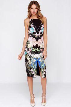 Keepsake Same Love Dress - Floral Print Dress - Midi Dress - $169.00