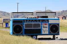 In front of the cannabis distributor, we came across the most interesting trailer of late: an oversized boombox.  Questions remaining: does it actually play music?