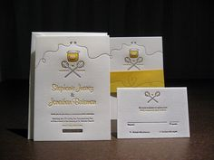 The Bees Knees Letterpress Wedding Suite by dolcepress, via Flickr