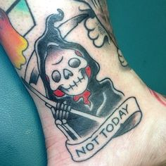"""""""And there is only one thing we say to Death: 'Not today.'"""" 