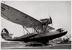 Dieselpunk: CANT Z.501 Gabbiano flying boat Italy, 1934