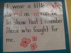 November - poppy poem Remembrance Day Poems, Remembrance Day Activities, Veterans Day Activities, Children Activities, November Poem, Veterans Day Poem, Kindergarten Poems, Poppy Craft