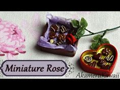 Miniature Rose Tutorial - Polymer clay - YouTube
