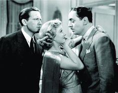 Spencer Tracy, Jean Harlow & William Powell, Libeled Lady, 1936 (wardrobe by Dolly Tree) Old Hollywood Movies, Hollywood Actor, Golden Age Of Hollywood, Vintage Hollywood, Hollywood Stars, Classic Hollywood, Hollywood Actresses, Hollywood Pictures, Jean Harlow