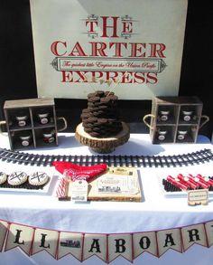 Vintage Trains Birthday Party Ideas | Photo 1 of 10