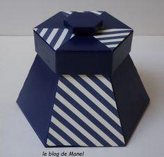 Les cartonnages de Manel / la bonbonnière Scrapbook Box, Cardboard Crafts, Blog, Diy, Gifts, Box Templates, Amazon, Cartonnage, Craft