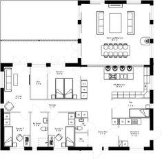 Bläddra bland över 900 planritningar | SKIDSTAHUS Bungalow, Compact Living, Building A House, House Plans, New Homes, Floor Plans, How To Plan, Interior, Houses