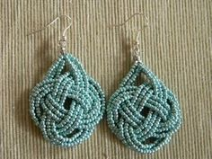Beaded knot earrings ~ good how-to photos  #handmade #Jewelry  http://newjewelrytrends.blogspot.com