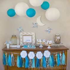 """""""Over the Moon for You"""" Printable Baby Shower Pack - Over The Big Moon » Free Printables"""