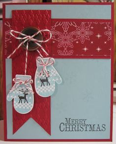 Jennifer's Stamp Pad: December Technique Class by lorie Homemade Christmas Cards, Christmas Cards To Make, Xmas Cards, Handmade Christmas, Homemade Cards, Holiday Cards, Christmas Crafts, Half Christmas, Christmas Vacation