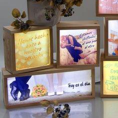kitkasa-conjunto cajas de luz personalizadas para bodas
