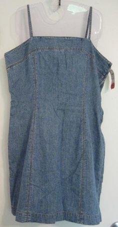 Lauren Jeans Co Ralph Lauren Denim Sun Dress 14 Petite New