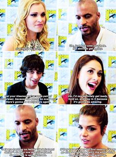 """""""Do you have a message for the fans as they get ready to watch the new season?"""" #the100"""