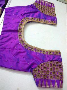 Cutwork Blouse Designs, Pattu Saree Blouse Designs, Simple Blouse Designs, Stylish Blouse Design, Bridal Blouse Designs, Blouse Neck Designs, Kurta Designs, Cut Work Blouse, Hand Work Blouse Design