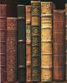 """""""Antique & vintage books with beautiful bindings add distinctive character & charm to decor vignettes"""" Carolyn Williams #decorating_with_#books"""