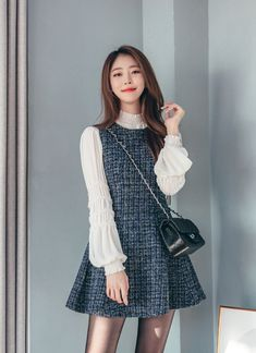 21 Hipster Outfits To Look Cool 21 Hipster Outfits To Look Cool Outfits 100 cool hairstyle ideas,Outfit korean fashion ou Korean Fashion Dress, Korean Dress, Korean Street Fashion, Ulzzang Fashion, Korea Fashion, Korean Outfits, Asian Fashion, Fashion Dresses, Korean Blouse