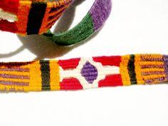 Mexican Woven Belt / Sash, Cinco de Mayo, Blanket Stripe, Dudes, 1980s, Hippy Belt