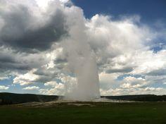 Old Faithful.  Yellowstone National Park. Wyoming.