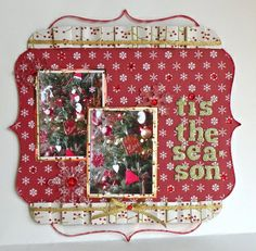 Acrylic Christmas Scrapbook Layout I created