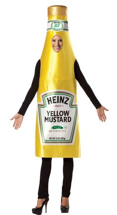 Heinz Classic Mustard Bottle Adult Costume from BuyCostumes.com