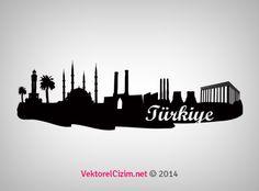 Vektörel Çizim | Türkiye Silüeti