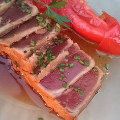 Tataki de atún #dinner #food #foodporn #foodie #foodgasm #foodpics #comida #cena #instafood #instafoodie #yum #yummy #ňam #tataki #instagood #Madrid by carmenbenaestilista