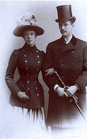 Marie Valerie with her husband Franz Salvator