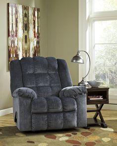 Ludden Blue Rocker Recliner – Outfit My Home