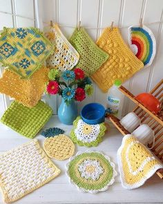 "Watch out product review video for the Sunny Days Dishcloths Crochet Pattern! Except for Flower Frenzy: Easy to Intermediate Skill Sizes: Daisy - About 9"" diame"