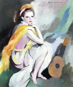 Woman with a Guitar - Marie Laurencin - The Athenaeum
