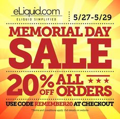 Don't miss your LAST CHANCE to make the most of this Memorial Day sale..20% off everything! Shop now 🙌🏼