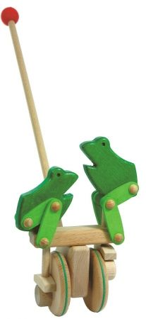 BAJO jumping frogs push along toy - hardtofind.