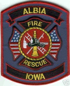 Iowa - Albia Fire Rescue - PatchGallery.com Online Virtual Patch Collection By: 911Patches.com - Fire Departments EMS Ambulance Rescue Police Sheriffs Depts Law Enforcement and Public Safety Patches Emblems Logos