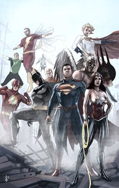 lulubonanza:  New 52 Justice League by ~benttibisson