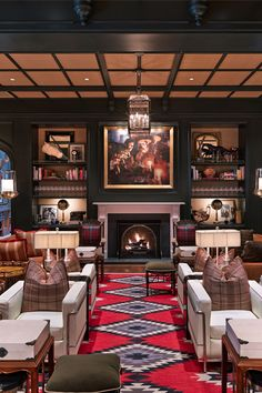 The luxurious Hotel Jerome in Aspen, Colorado has an upbeat private club-like decor with historic integrity. It's a #Fodors100 Hotel Awards winner in the Home Suite Homes category.
