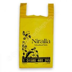 UK's leading retail and wholesale manufacture of custom print vest handle plastic carrier bags. Huge collection of various vest handle TShirt carrier bags. Plastic Carrier Bags, Bags Uk, Vest, Prints, T Shirt, Plastic Bags, Supreme T Shirt, Tee Shirt, Tee