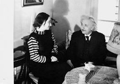 Albert Einstein with Daughter Margot, Lotte Jacobi, 1938 (printed 1978), ink on paper - commerically published postcards, 5 in. x 7 in. Currier Museum of Art.